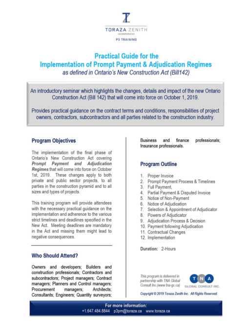 A Practical Guide for the Implementation of Prompt Payment & Adjudication Regimes